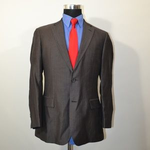 Hugo Boss 38R Sport Coat Blazer Suit Jacket Gray B